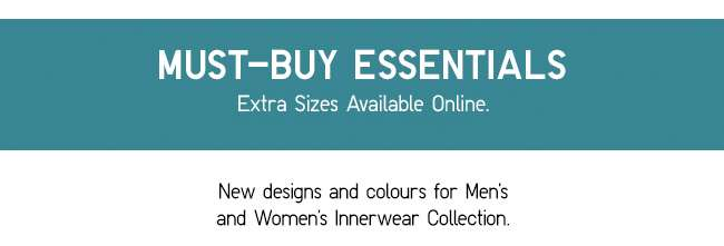 Must-Buy Essentials | Extra Sizes Available Online