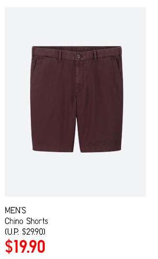 Men's Chino Shorts at $19.90