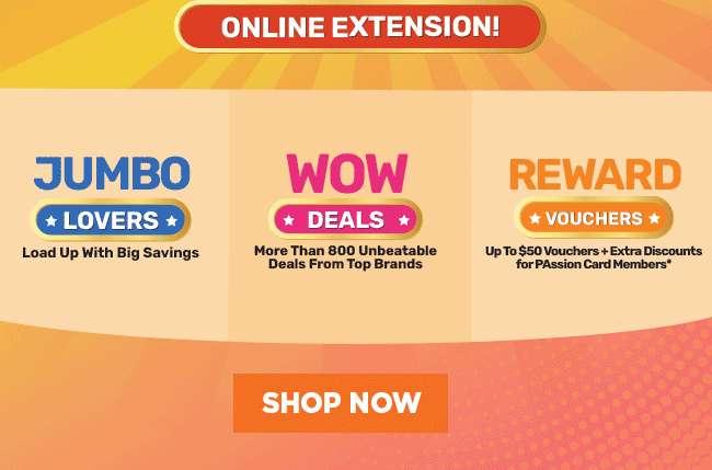 Online Extension | Jumbo Lovers | WOW Deals | Reward Vouchers