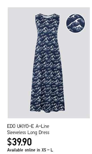 Women's EDO UKIYO-E A-Line Sleeveless Long Dress at $29.90