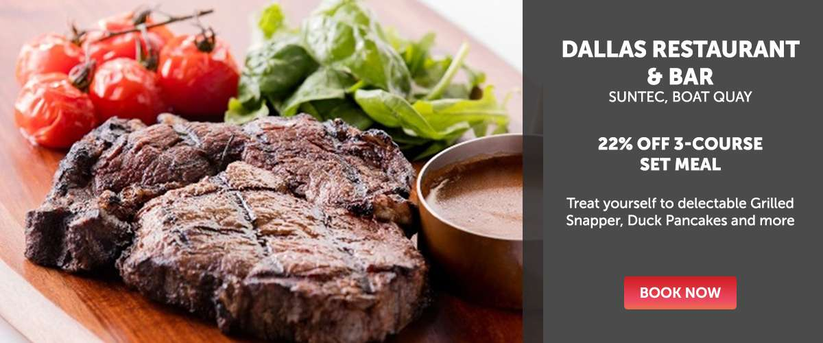 Dallas Restaurant & Bar - 22% OFF 3-Course Set Meal