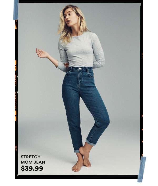 Stretch Mom Jean $39.99. Click to Shop