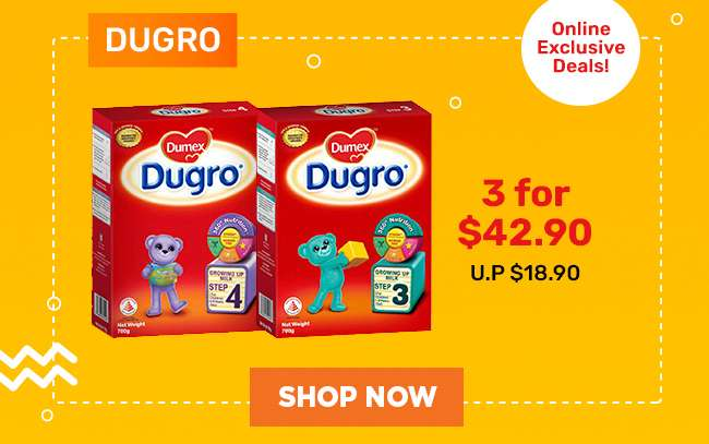 Dugro | 3 for $42.90 | U.P. $18.90