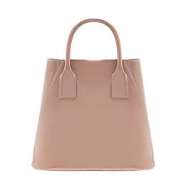 LEATHER BOXY BUCKET BAG