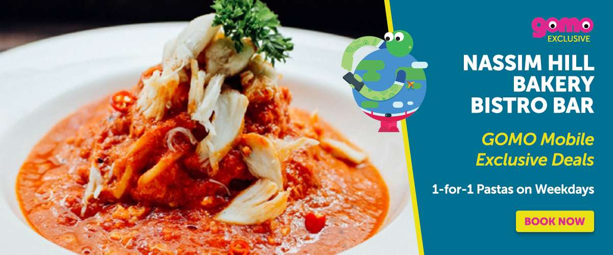Nassim Hill Bakery Bistro Bar offers 1-for-1 Pasta, exclusively to GOMO Mobile users only