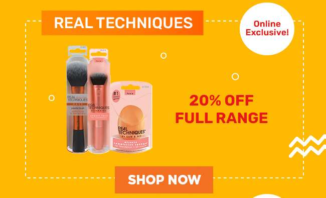 Real Techniques | 20% off Full Range