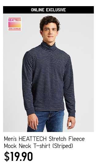 Men's HEATTECH Stretch Fleece Mock Neck Long Sleeve T-shirt at $19.90