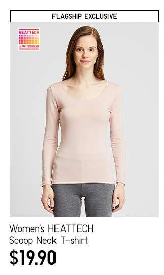 Women's HEATTECH Extra Warm Scoop Neck Long Sleeve T-shirt at $24.90