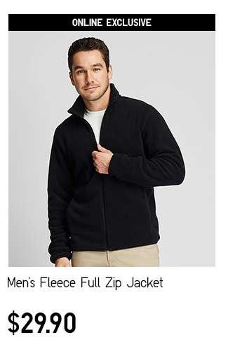 Men's Fleece Full Zip Long Sleeve Jacket at $29.90
