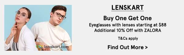 Lenskart: Buy 1 get 1 eyeglasses with lenses starting at $88!