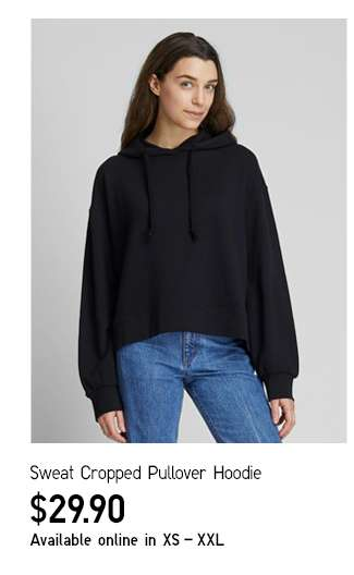 Women's Sweat Cropped Pullover Hoodie at $29.90
