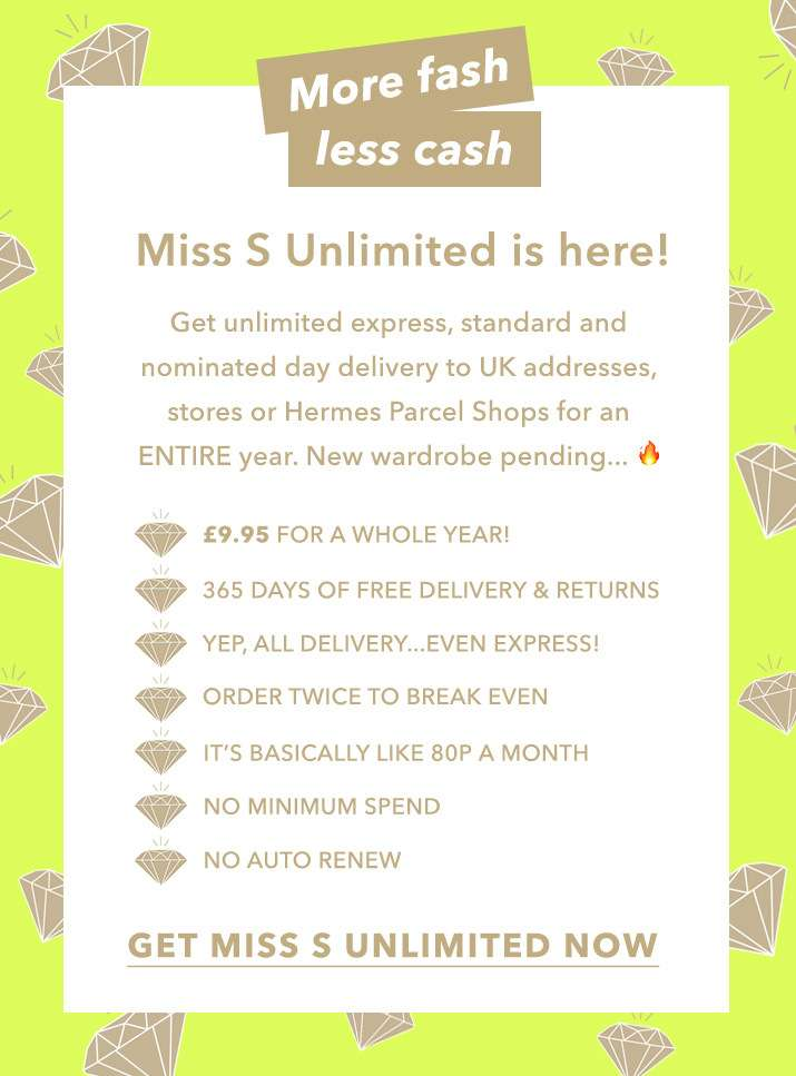 Miss S unlimited is here! - Get miss S unlimited now