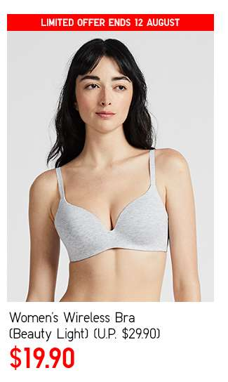 Women's Wireless Bra (Beauty Light) at $19.90