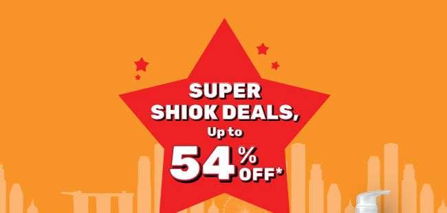 Super Shiok Deals Up to 54% Off