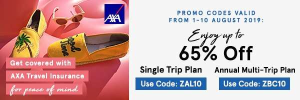Get covered with AXA Travel Insurance!