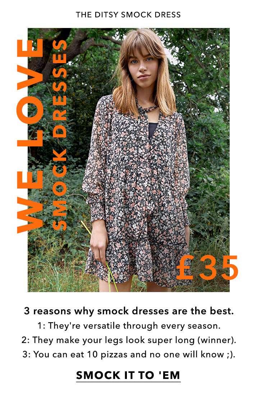 We love smock dresses - Smock it to 'em