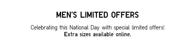 Celebrate this National Day with special limited offers!