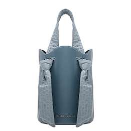 RUCHED KNOT HANDLE BUCKET BAG