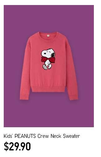 Kids' PEANUTS Crew Neck Sweater at $29.90