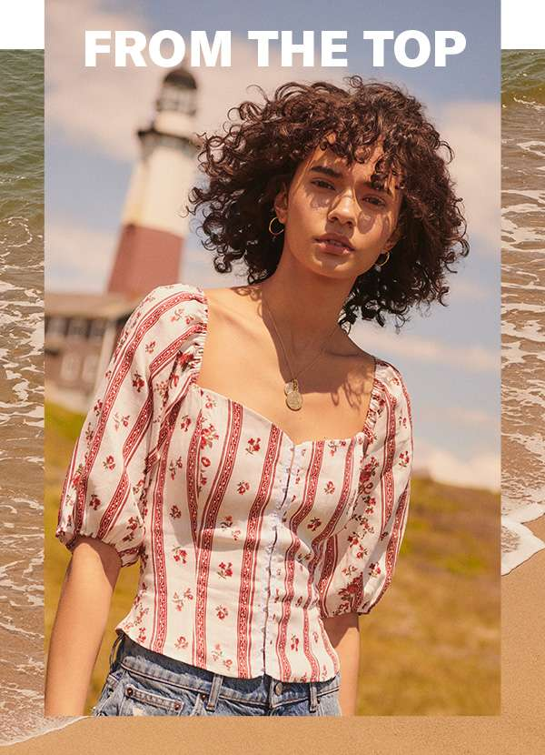 Easy high-summer looks are just a cropped, printed, or puff-sleeved blouse away.