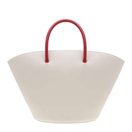 TWO-TONE LARGE TRAPEZE TOTE