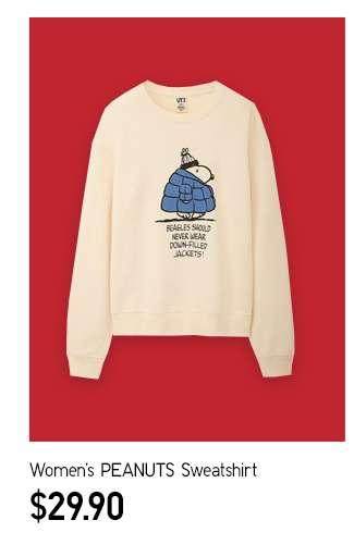 Women's PEANUTS Sweatshirt at $29.90