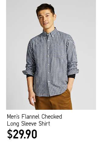 Men's Flannel Checked Long Sleeve Shirt at $29.90