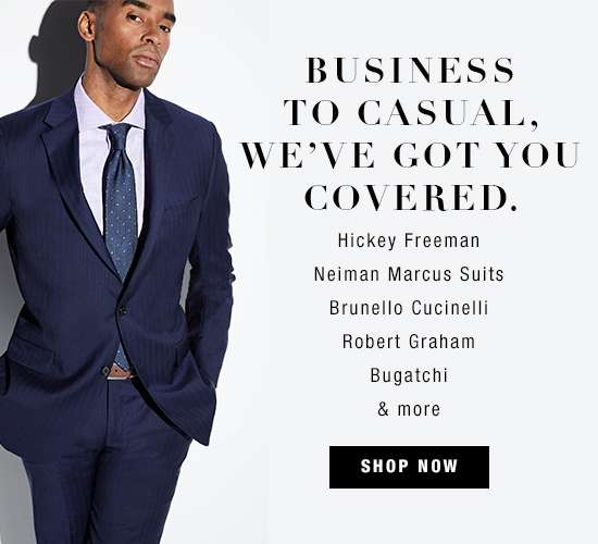 Men's business and casual apparel and accessories
