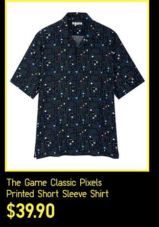 The Game Classic Pixels Open Collar Printed Short Sleeve Shirt at $39.90