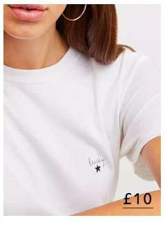 White 'Lucky Star' T-Shirt