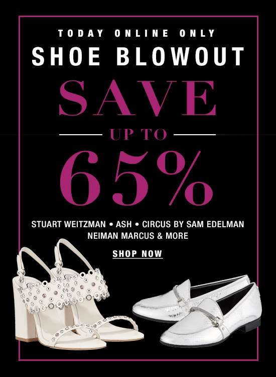 SHOE BLOWOUT up to 65% off