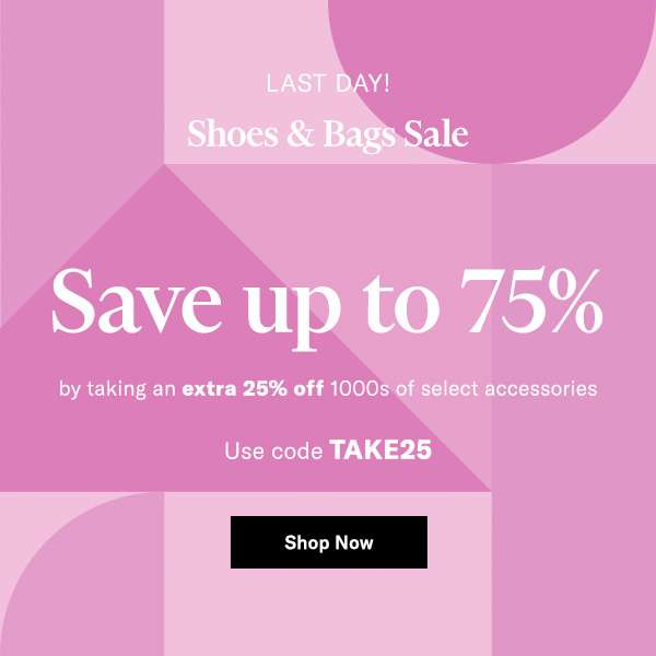 Save up to 75% by taking an extra 25% off 1000s of select accessories  Use code TAKE25