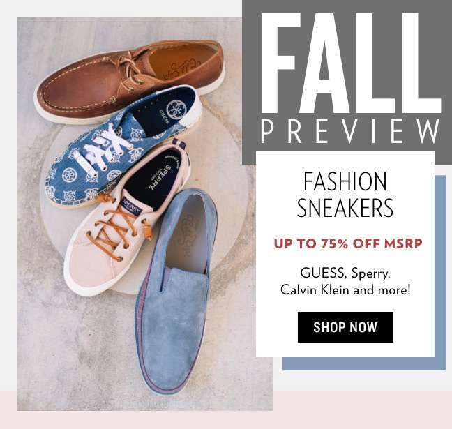 Fall Preview: Fashion Sneakers