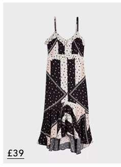Black Cutabout Floral Frill Slip Dress