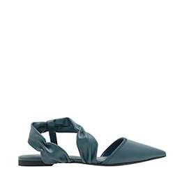 RUCHED STRAP COVERED FLAT SANDALS