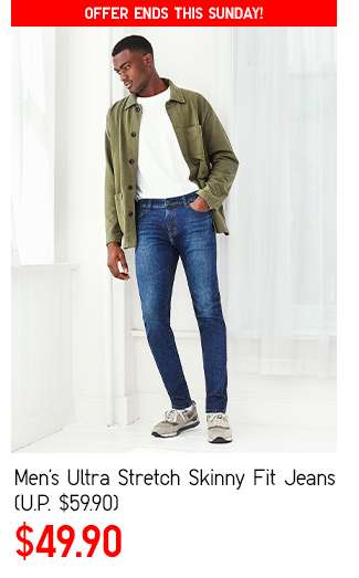 Men's Ultra Stretch Skinny Fit Jeans at $49.90