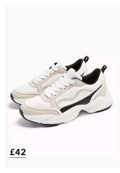 TIGER White Chunky Trainers