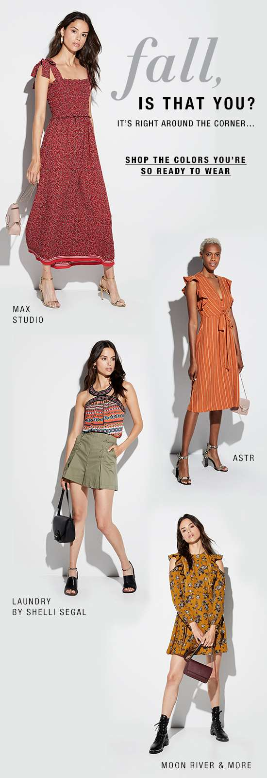 Women's apparel in fall colors