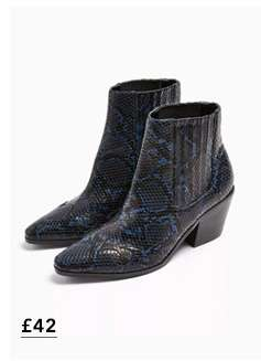 BEWITCH Navy Western Boots
