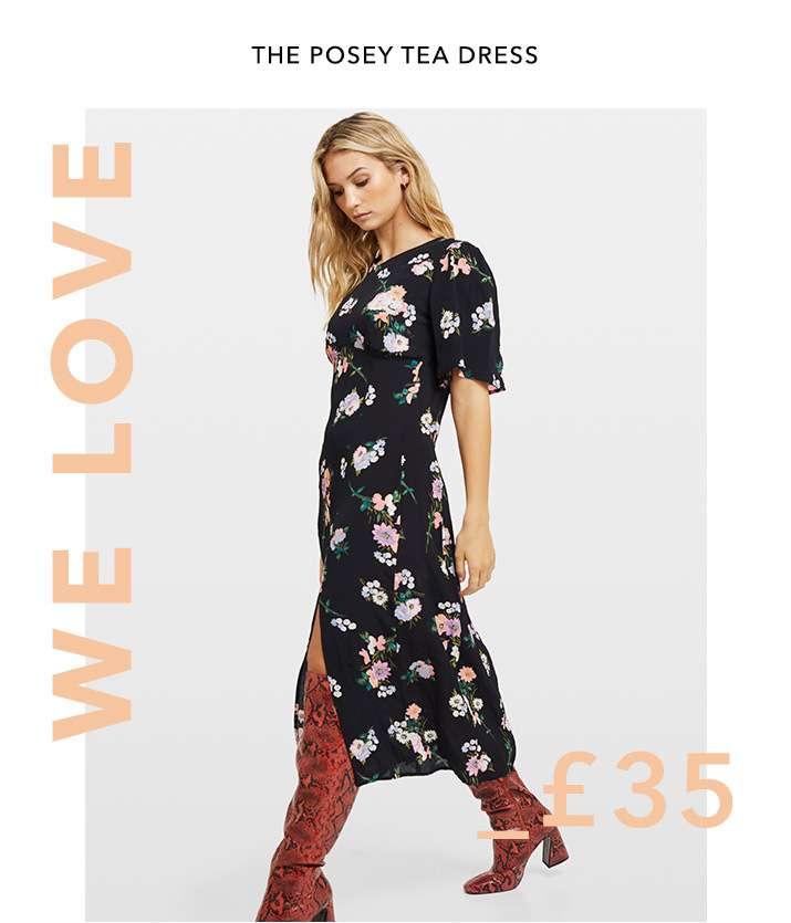 We love the posey tea dress - Shop dresses
