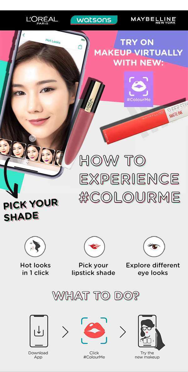Try on makeup virtually with #Colourme