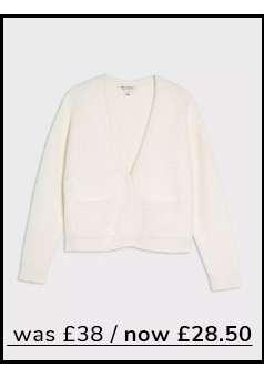 Cream Short Lash Knitted Cardigan
