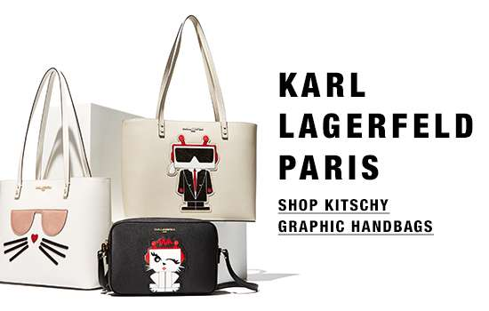 Graphic bags from Karl Lagerfeld Paris