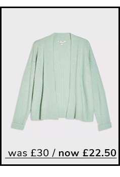 Mint Short Boxy Knitted Cardigan