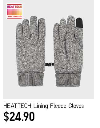 HEATTECH Lining Fleece Gloves at $24.90