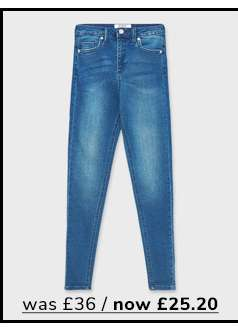 LIZZIE High Waist Super Skinny Mid Blue Jeans