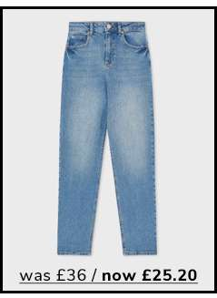 MOM High Waist Slim Fit Blue Jeans
