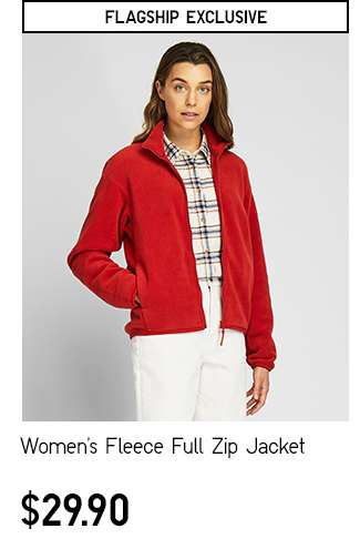 Women's Fleece Full-Zip Long Sleeve Jacket at $29.90
