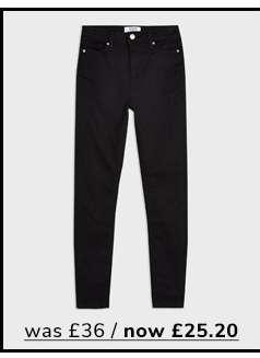 LIZZIE High Waist Super Skinny Black Jeans