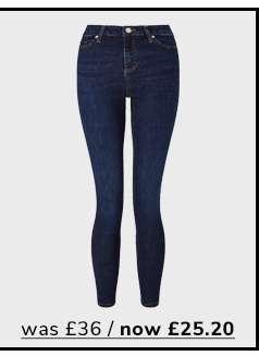 LIZZIE High Waist Super Skinny Dark Blue Jeans